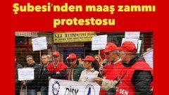 DİSK/Emekli-Sen Balıkesir Şubesi'nden maaş zammı protestosu