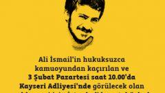 Gezi Şehidi Ali İsmail Korkmaz için Kayseri'deyiz