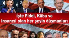 """""""Biji Serok Obama""""cılar!  Sadece Fidel'e sövmekle yetinmeyin.  İsmail Kahraman, ROK, Alçı, Cem Küçük, Aslı Aydıntaşbaş gibi, Mustafa Kemal'e de, Che'ye de, Denizler'e, Mahirler'e de sövün! Daha tutarlı davranmış olursunuz"""