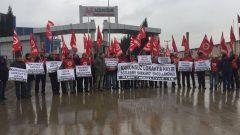 Nakliyat-İş'ten:  Mescier Demir Çelik Fabrikası'na Bağlı UGR Lojistik'te Kanunsuz Lokavta Hayır, Sözleşme Hakkımız Engellenemez!