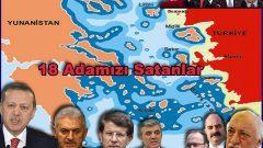 Bre Kaçak Saraylı Reis!  Seni ve AKP'giller'ini vatana ihanetten Çeşme ya da Didim Meydanı'nda mahkeme kurup yargılayacağız, Ege'deki 18 Adamızı Yunanistan'a peşkeş çekişinizden dolayı
