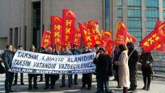 """1 Mayıs'ta """"Taksim Vatan'dır"""" diyen HKP'lilerin duruşması yapıldı"""