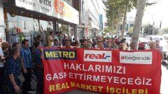 Real Market İşçileri, Hileli İflasa, Haklarının Gasp Edilmesine, Sarı Sendikacılığa Karşı Mücadeleye Devam Ediyor