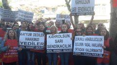"""Nakliyat-İş'ten: """"Taksim'de Real Market Direnişçileri Almanya Konsolosluğu'nda Kitlesel Eylem Yaptı"""