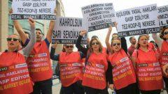 Nakliyat-İş'ten: Sendikamız, 8 Mart Dünya Emekçi Kadınlar Gününü Real Marketli yiğit Direnişçi Kadınlar ve yurt dışından gelen Direnişçi Kadınlarla uluslararası bir etkinlikle kutluyor