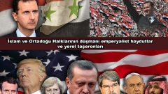 Emperyalist Çakal ABD, İngiltere, Fransa ve Bölgedeki aşağılık, hain taşeronları!