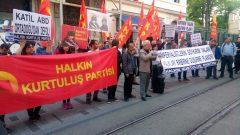 """AB-D Emperyalistlerinin halkları birbirine düşürme planı olan """"Ermeni Soykırımı"""" Yalanına karşı halkların kardeşliğini savunmak için Taksim'deydik"""