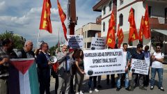 Ankara'da İsrail Büyükelçiliği önünde İsrail'in Filistin Halkına karşı vahşice saldırması sonucu ölen 62 Filistinli için eylem gerçekleştirdik.