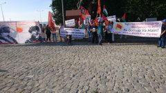HKP İzmir İl Örgütü Hasan Tahsin'i andı, Katil İsrail'in katliamlarını protesto etti