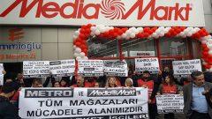 Real Market İşçileri: Metro ve Media Markt'ın tüm mağazaları eylem alanımızdır!