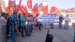 """Polis ve özel güvenliğin tüm engellemelerine rağmen haykırdık: """"SEKA'yı özelleştirenler halka hesap verecek"""""""