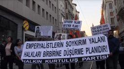 """HKP, Emperyalistlerin """"Ermeni Soykırımı"""" yalanına karşı Taksim'deydi!"""