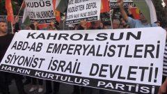 HKP, İsrail'in Filistin'deki saldırılarını protesto etti