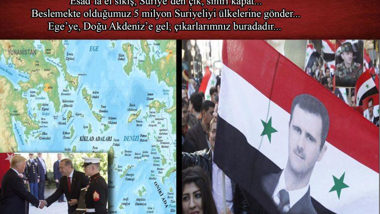 Esad'la el sıkış, Suriye'den çık, sınırı kapat…