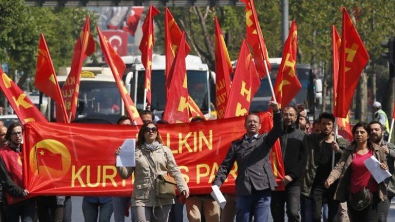 """""""1 Mayıs'ın Anavatanı Taksim yasaklanamaz"""" diyen HKP'lilerin duruşması yapıldı"""
