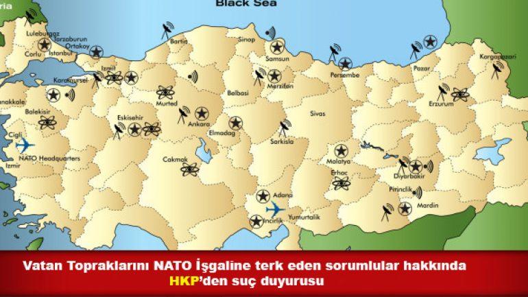 Geleceğimizi, AB-D Emperyalizminin kanlı örgütü NATO'nun ellerine bırakanlar hakkında suç duyurusunda bulunduk!