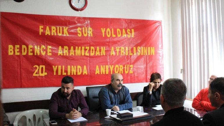 Konya Devrimci Ortamının Çınarı Faruk Sur Yoldaş Konya'da anıldı