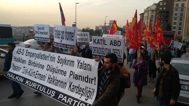 Ermeni Soykırımı yalanına karşı bu yıl da 'halkların kardeşliği' sloganını haykırdık