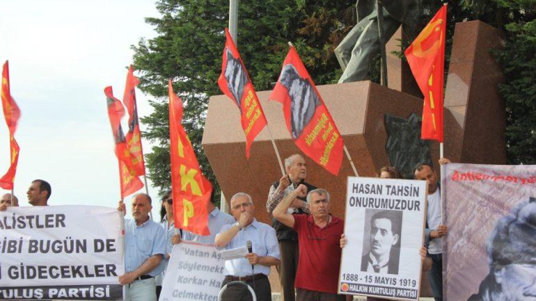 HKP İzmir İl Örgütü ilk kurşunun 100. Yılında eylem yaptı