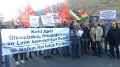 ABD Başkonsolosluğu önünde Bolivya'daki Amerikancı faşist darbeyi protesto ettik