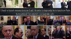Ulusal ve kişisel onurunu koruyan Esad'ı Kremlin'in kapısında böyle karşılıyor Putin, koruyamayan Tayyipgiller'i ise aşağıdaki gibi…