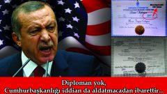 Diploman yok, Cumhurbaşkanlığı iddian da aldatmacadan ibarettir…