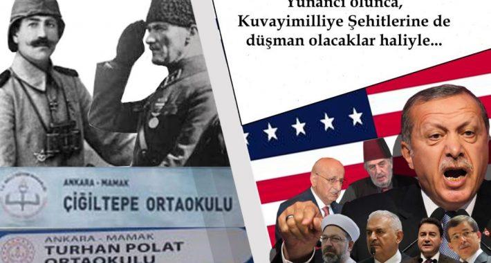 Yunancı olunca, Kuvayimilliye Şehitlerine de düşman olacaklar haliyle…