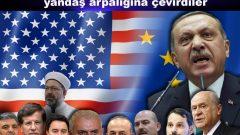 Tüm Türkiye'yi ve devlet kurumlarını yandaş arpalığına çevirdiler