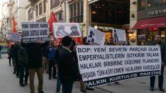 """""""Sevr Antlaşması Uygulansın"""" çağrısına imza atanlar, Halklarımıza ve Tarihimize düşmandır! Onların yeri Sevr'in yanı, Tarihin çöplüğüdür!"""