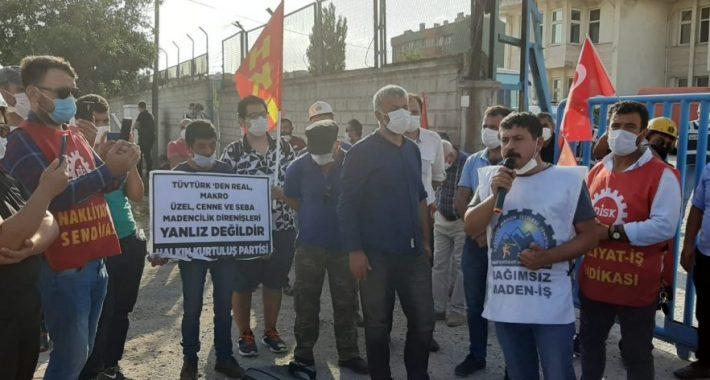 Haklarını arayan Maden İşçileri 14 Eylül tarihinde Konya'da basın açıklaması yaptılar