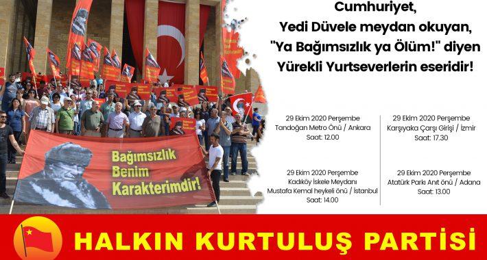 """Cumhuriyet, Yedi Düvele meydan okuyan, """"Ya Bağımsızlık ya Ölüm!"""" diyen Yürekli Yurtseverlerin eseridir!"""