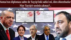 Hamza'nın diploması sahte de Tayyip'inki sahici mi, ülen düzenbazlar! Niye Tayyip'e sesiniz çıkmaz?..