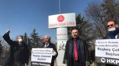 Halkçı Hukukçularımız Atatürk Orman Çiftliği peşkeşini protesto etti!