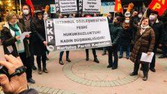 İstanbul Sözleşmesi'nden çekilen AKP'giller'e karşı Kurtuluş Partili Kadınlar Ankara'da ayakta!