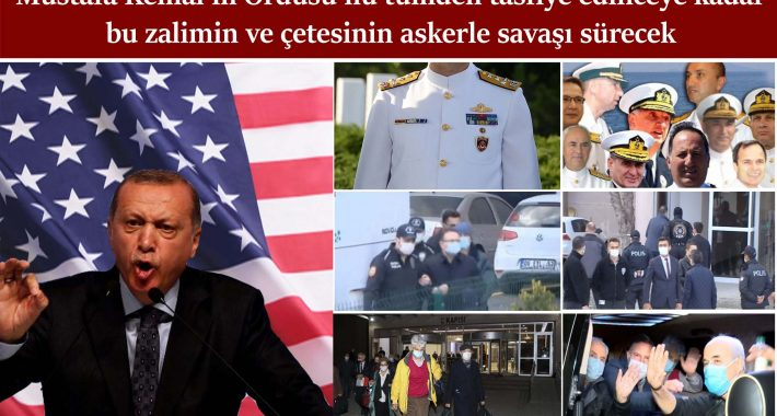 Mustafa Kemal Ordusu'nu tümden tasfiye edinceye kadar bu zalimin ve çetesinin askerle savaşı sürecek