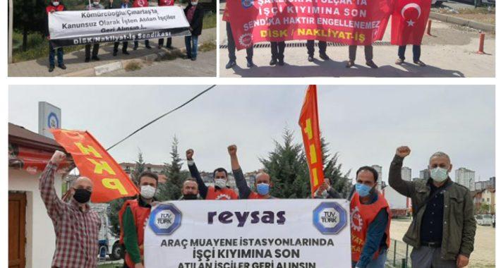 Partimiz, Türkiye'nin dört bir yanında Nakliyat-İş öncülüğünde kararlıca mücadelelerini sürdüren yiğit Direnişçi İşçileri ziyaret etti