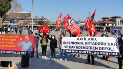 Katil ABD'nin savaş gemilerinin Boğazlar'ımızdan geçişini protesto ettik!