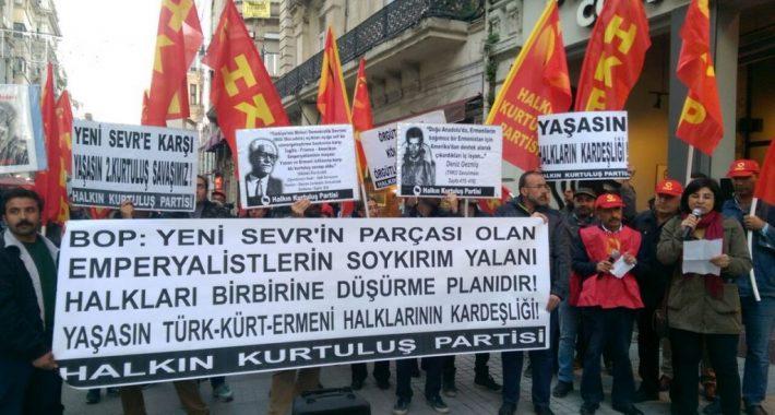 Emperyalistlerin Soykırım Yalanı, Halkları Birbirine Düşürme Planıdır! Yaşasın Türk-Kürt-Ermeni Halklarının Kardeşliği!