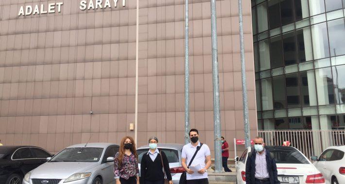 Partimizden bir hırsız misali gece vakti pankartlarımızı çalan AKP'giller hakkında suç duyurusunda bulunduk!