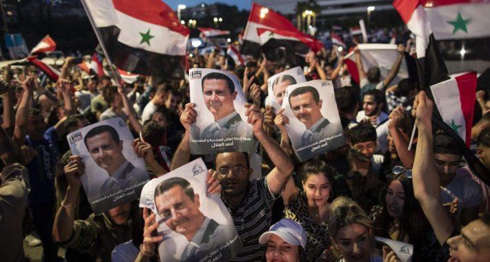 Halkın Kurtuluş Partisi olarak Suriye Arap Cumhuriyeti Devlet Başkanı Beşşar Esad'ı  Başkanlık Seçiminde Kazandığı Büyük Zafer Vesilesiyle Kutluyoruz