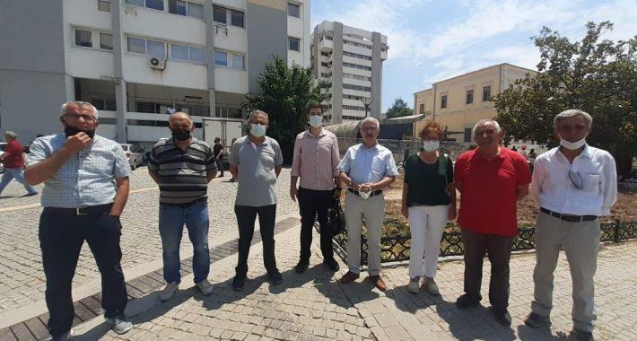 İl Örgütümüze astığımız pankartlardan dolayı Partimiz İzmir İl Başkanı Av. Tacettin Çolak bir kez daha ifadeye çağrıldı
