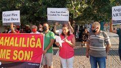İşsizlik ve Pahalılıkla Savaş Derneği, İzmir'de İşsizliği ve Pahalılığı protesto etmeye devam ediyor