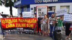 İşsizlik ve Pahalılıkla Savaş Derneği İzmir'de işsizliği ve zamları protesto etti