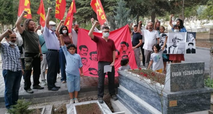 12 Eylül öncesi faşistler tarafından kahpece katledilen Üç Şehitler'imizi, Engin Yüzbaşıoğlu Yoldaş'ı ve altı yıl önce kaybettiğimiz Ayhan Kaya Yoldaş'ımızı andık
